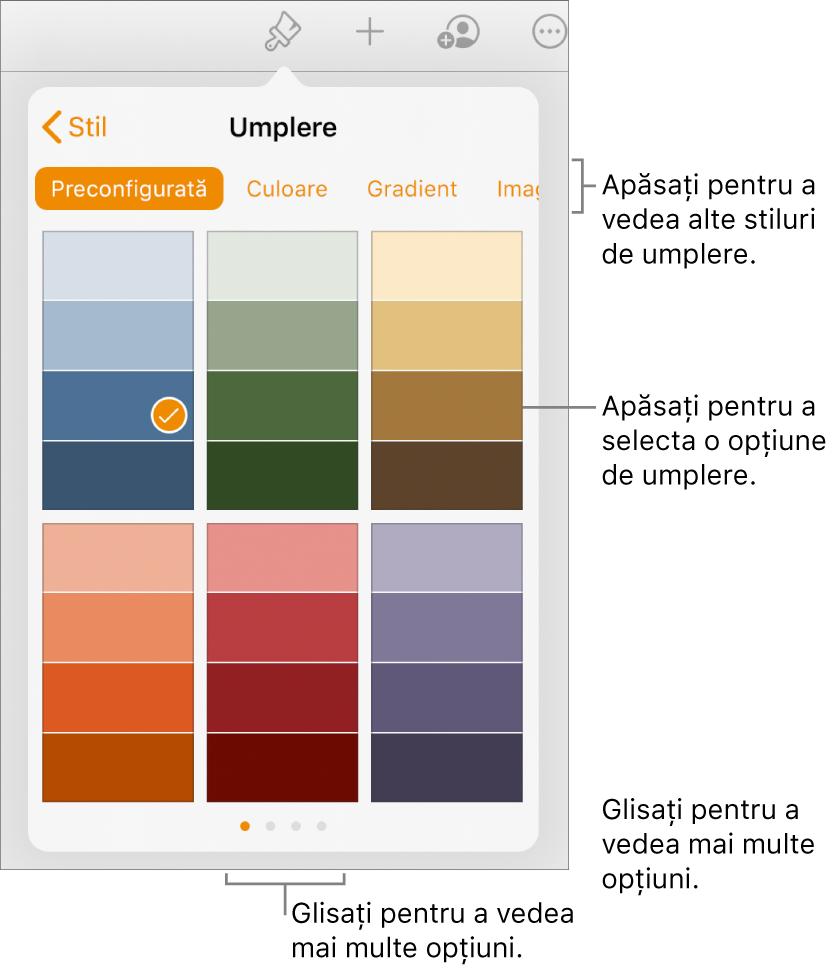 Pages pentru Mac: Umplerea unei forme sau a unei casete de text într-un document Pages