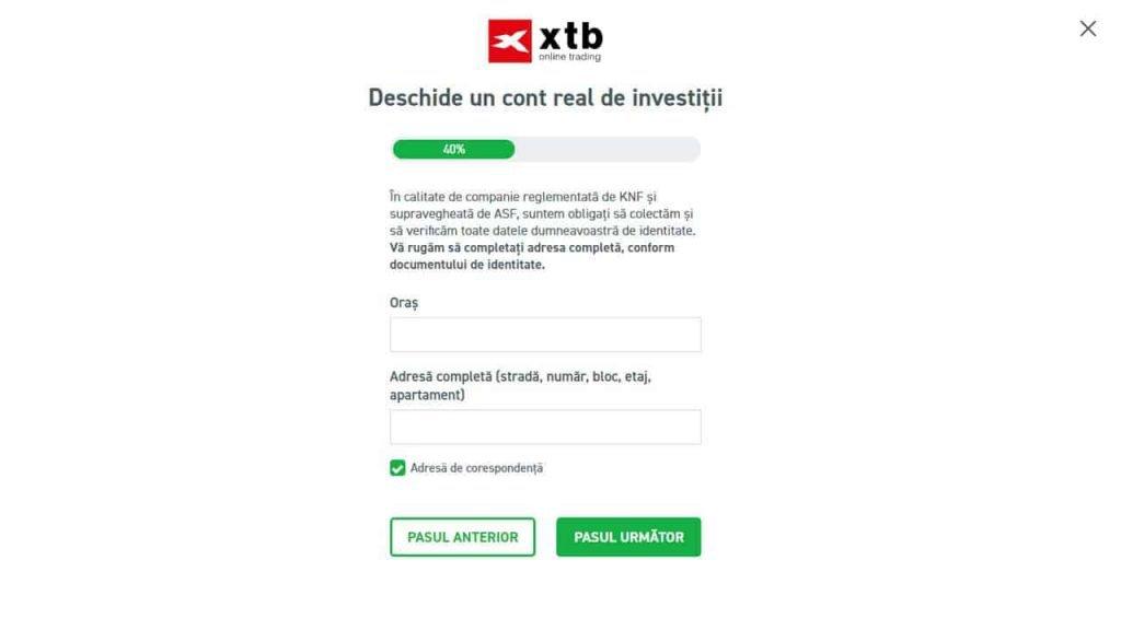 demo cont de deschidere perspectiva investiției în criptă